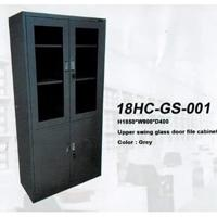 Lemari Besi Topas 18HC-GS-001 Filling Cabinet UPPER SWING GLASS DOOR