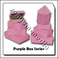 SHOE BOX PURPLE 155X105X65MM 8900 86